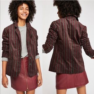Free People Velvet B Line Vintage Inspired Blazer